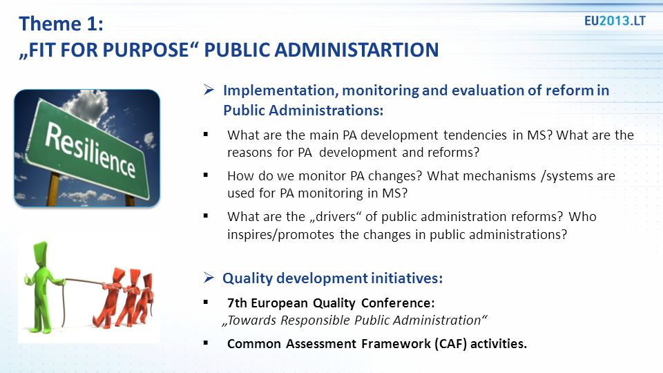 Implementation, monitoring and evaluation of reform in Public Administrations: What are the main PA development tendencies in MS.