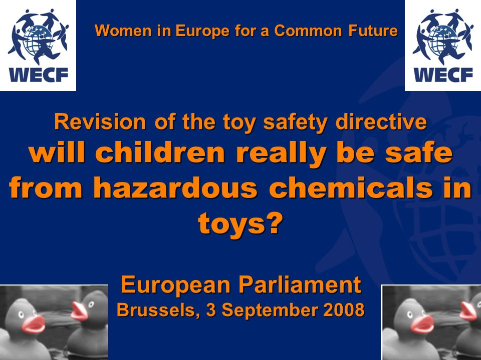 www.wecf.org Revision of the toy safety directive will children really be safe from hazardous chemicals in toys.