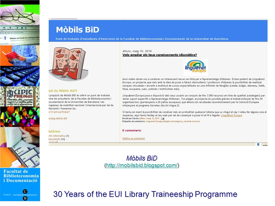 30 Years of the EUI Library Traineeship Programme Itaca.