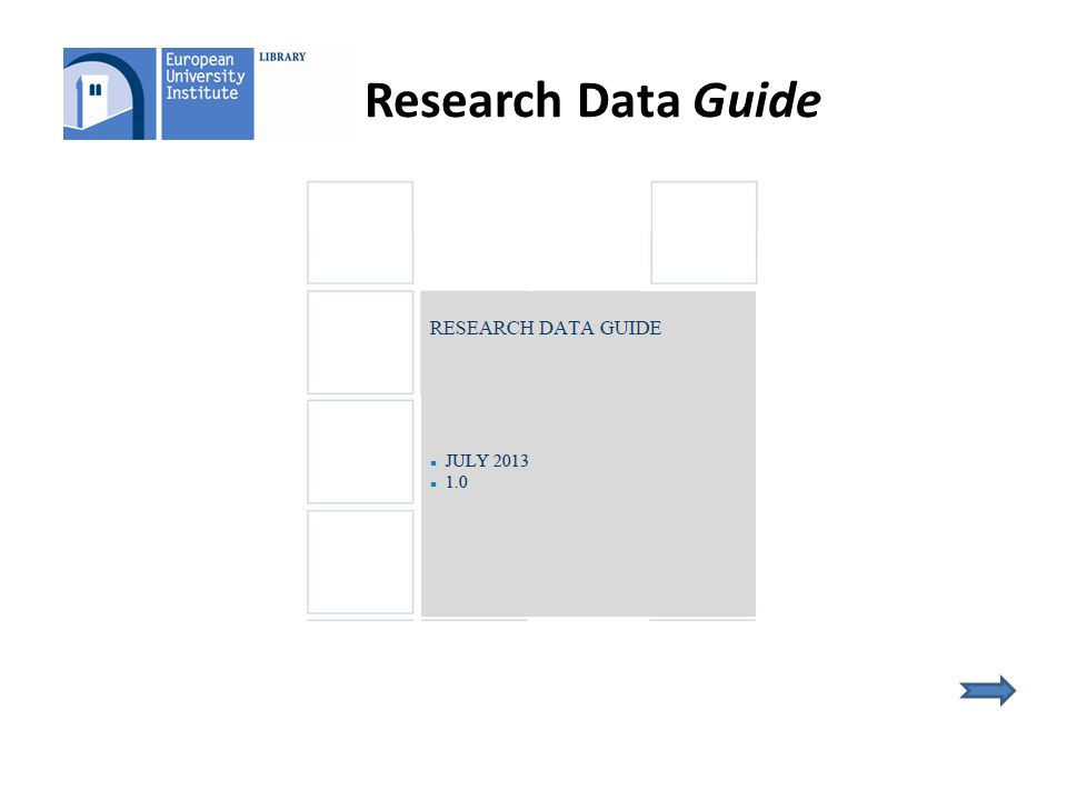 Research Data Guide