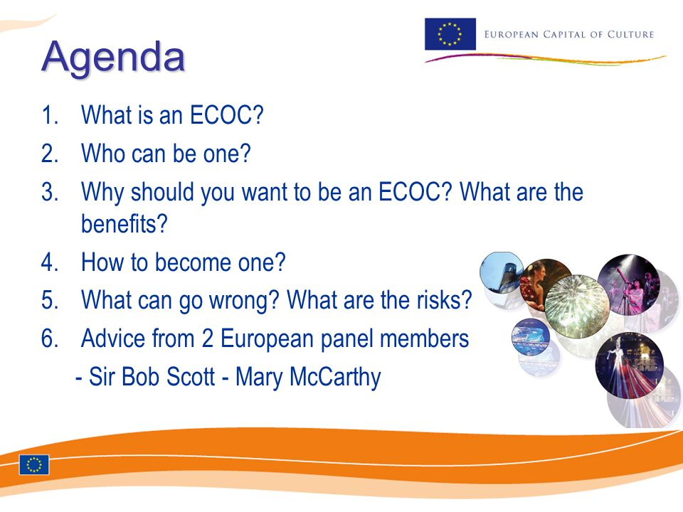 1.What is an ECOC. 2.Who can be one. 3.Why should you want to be an ECOC.
