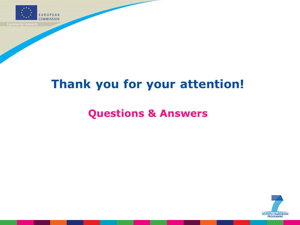 Thank you for your attention! Questions & Answers