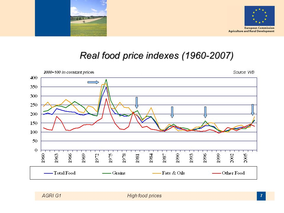 AGRI G1High food prices 7 Real food price indexes ( )