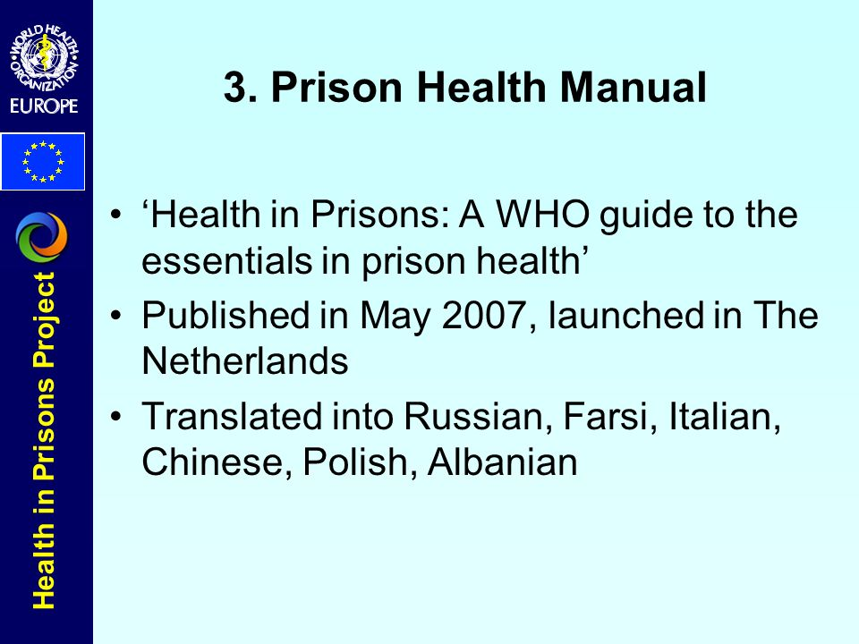 Health in Prisons Project 3.