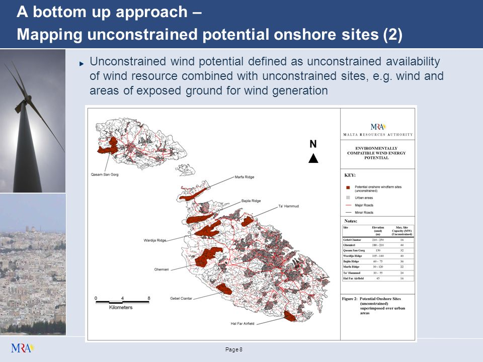 Page 7 A bottom up approach – Mapping unconstrained potential onshore sites (1)