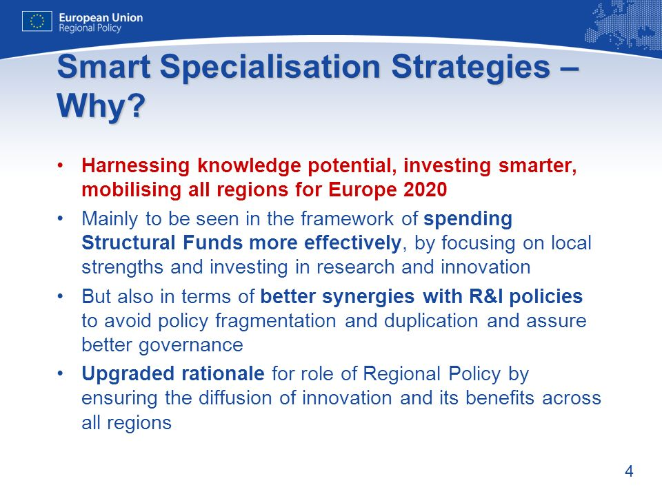 4 Smart Specialisation Strategies – Why.