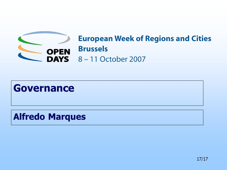 17/17 Governance Alfredo Marques