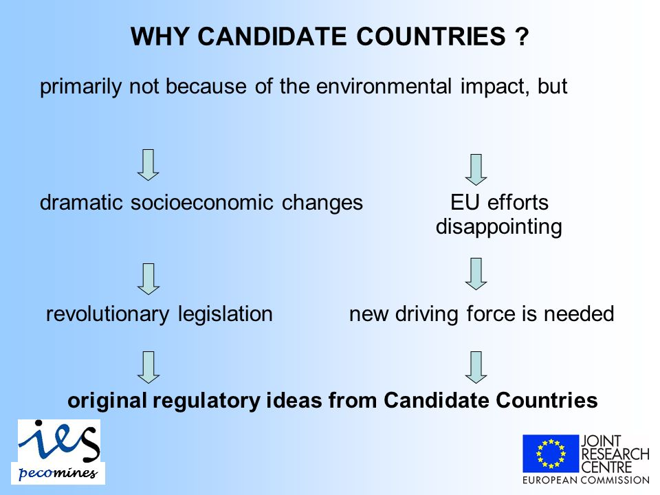 WHY CANDIDATE COUNTRIES .
