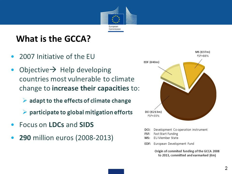 What is the GCCA.