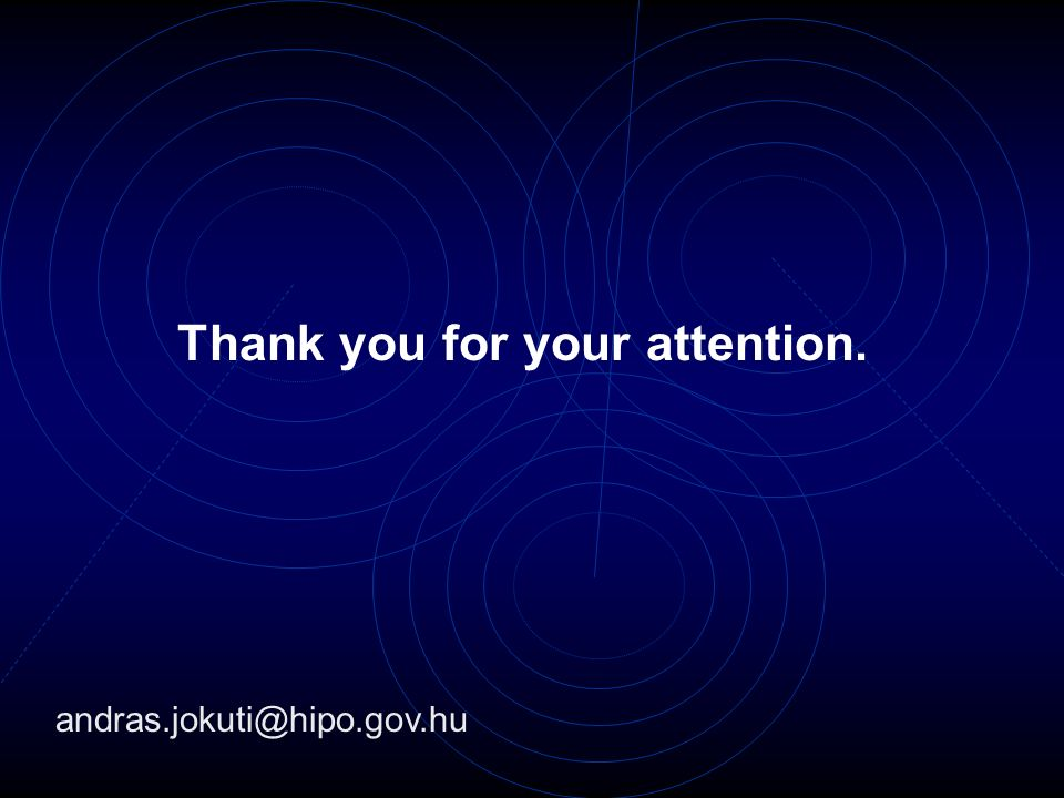 Thank you for your attention. andras.jokuti@hipo.gov.hu