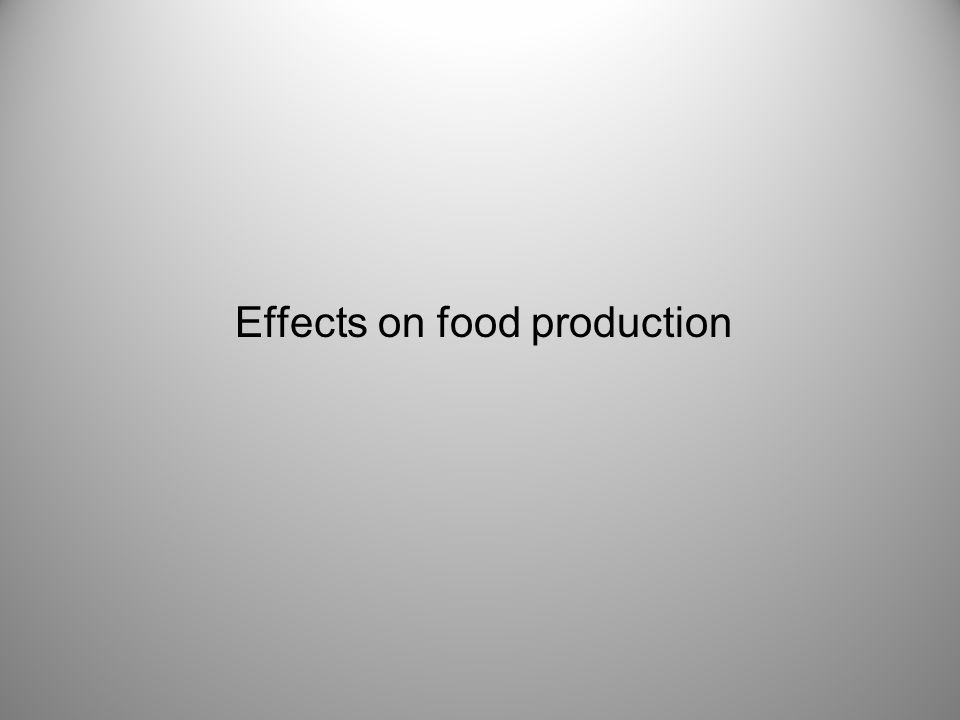 Effects on food production