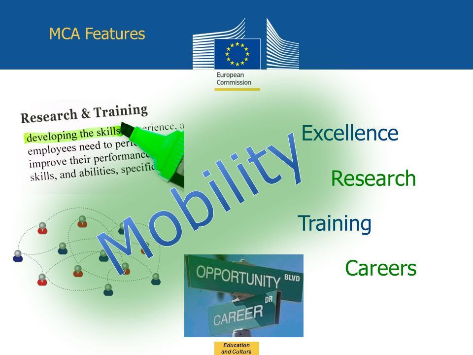 Excellence Research Training Careers Education and Culture MCA Features