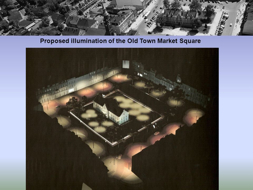 Proposed illumination of the Old Town Market Square