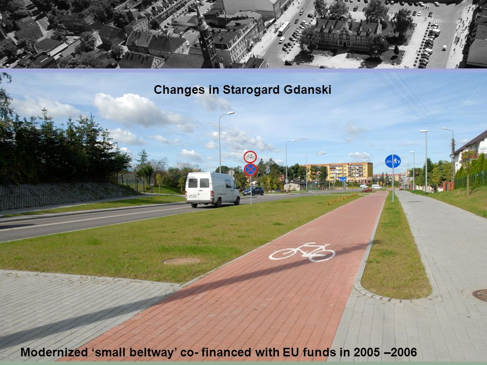 Modernized small beltway co- financed with EU funds in 2005 –2006 Changes in Starogard Gdanski