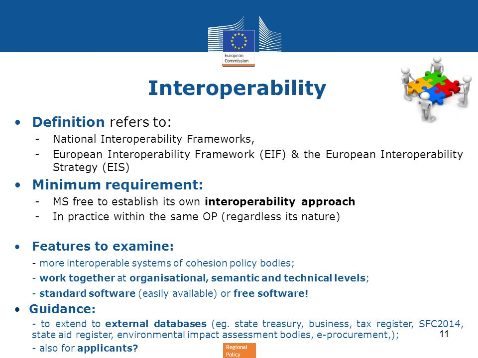 Regional Policy Interoperability e-TrustEx can easily be extended to any policy domain e-TrustEx is composed of 3 elements: Technological platform: e-TrustEx offers a set of basic pre-processing capabilities such as schema validation and business rules validation, routing according to specific criteria, orchestration of information exchanges, rendering of information to human readable format and archiving.