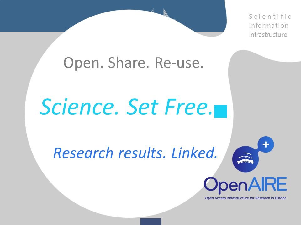 Science. Set Free. Research results. Linked. Open.