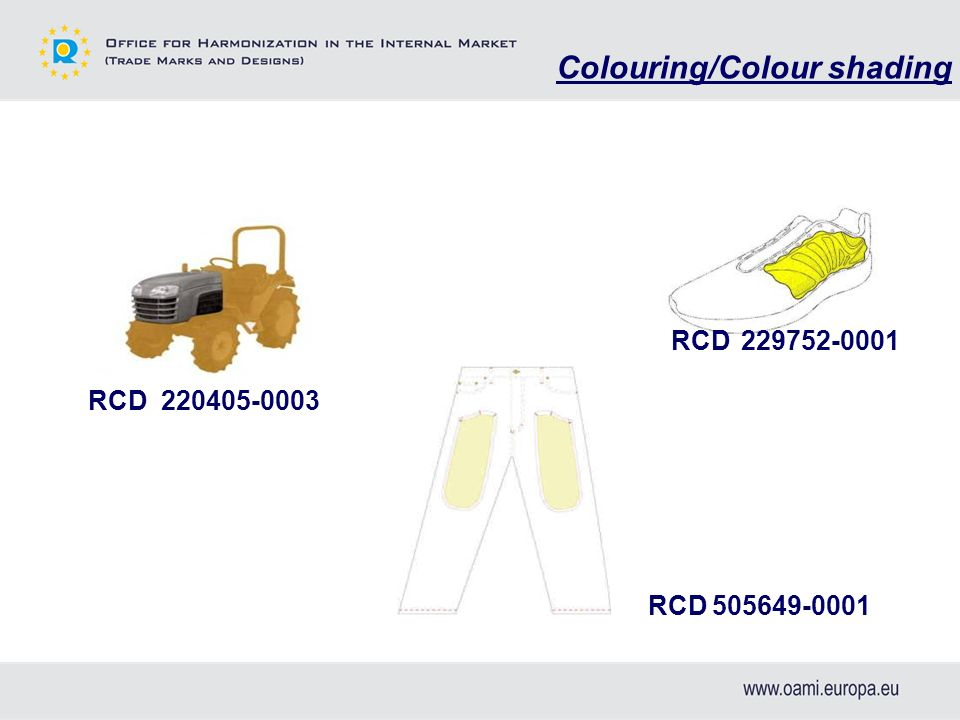 RCD 229752-0001 RCD 505649-0001 RCD 220405-0003 Colouring/Colour shading