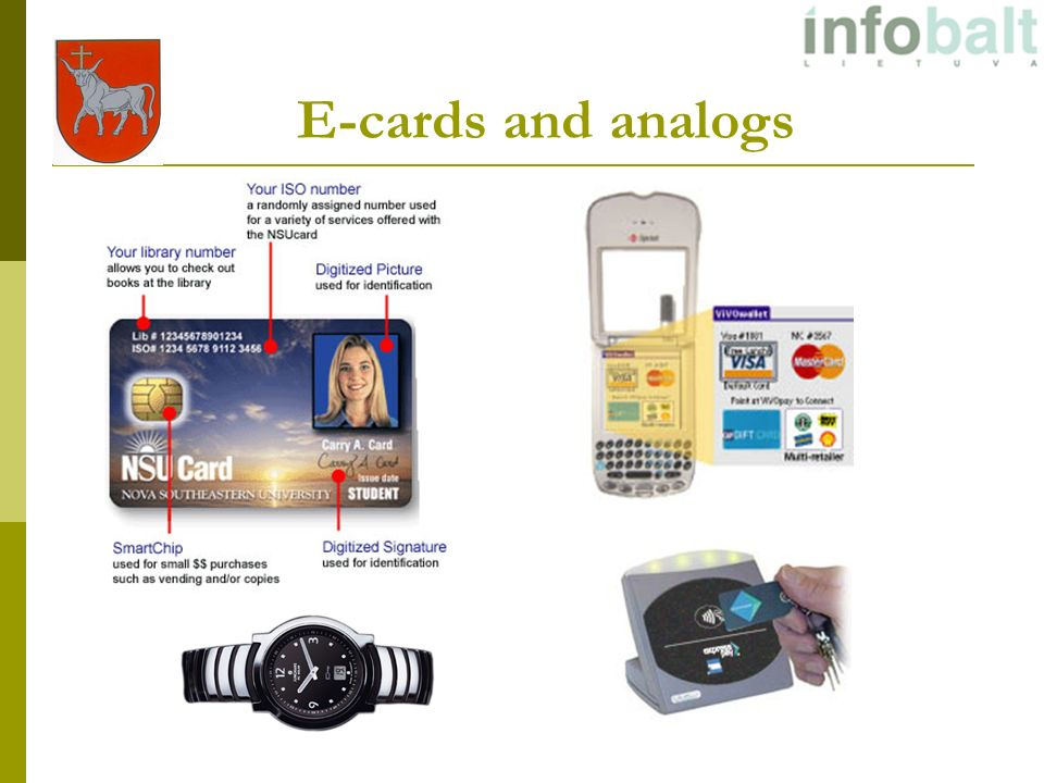 E-cards and analogs