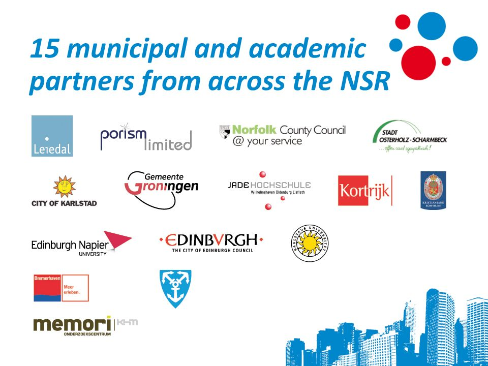 15 municipal and academic partners from across the NSR 3