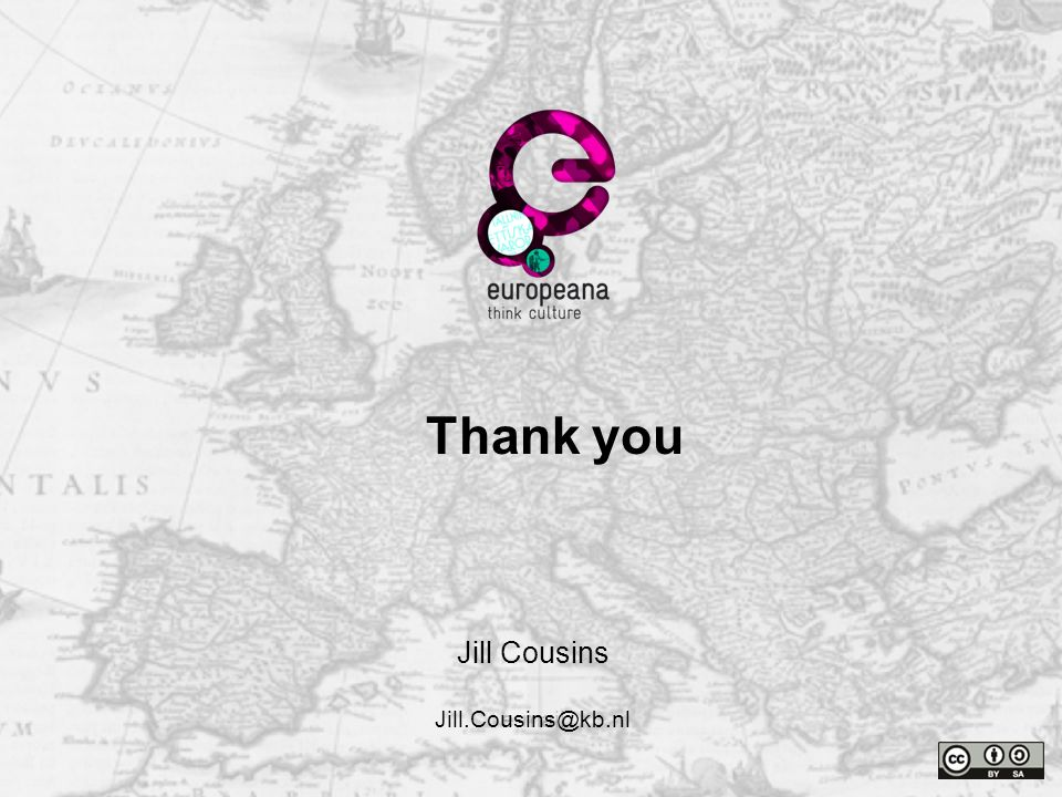 Name e-mail Thank you Jill Cousins Jill.Cousins@kb.nl Thank you
