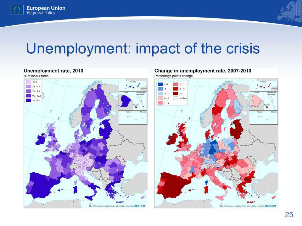 25 Unemployment: impact of the crisis