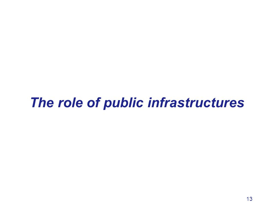 13 The role of public infrastructures