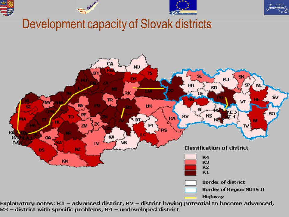 5 Development capacity of Slovak districts