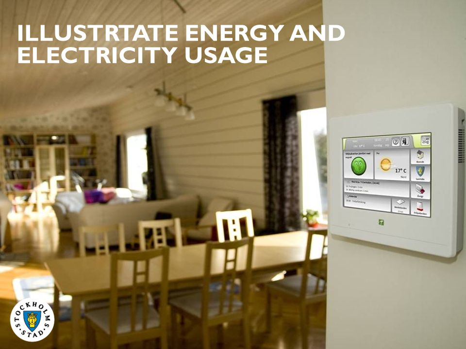 ILLUSTRTATE ENERGY AND ELECTRICITY USAGE