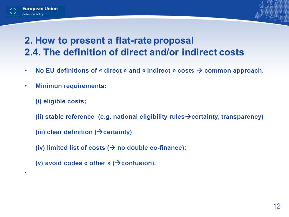 12 2. How to present a flat-rate proposal 2.4.