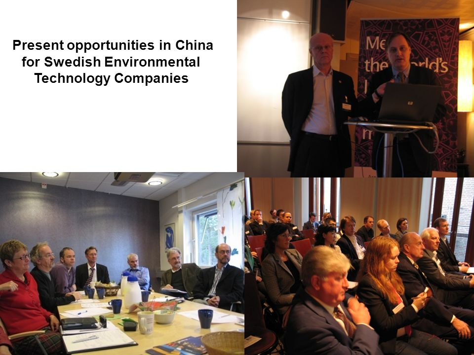 Present opportunities in China for Swedish Environmental Technology Companies