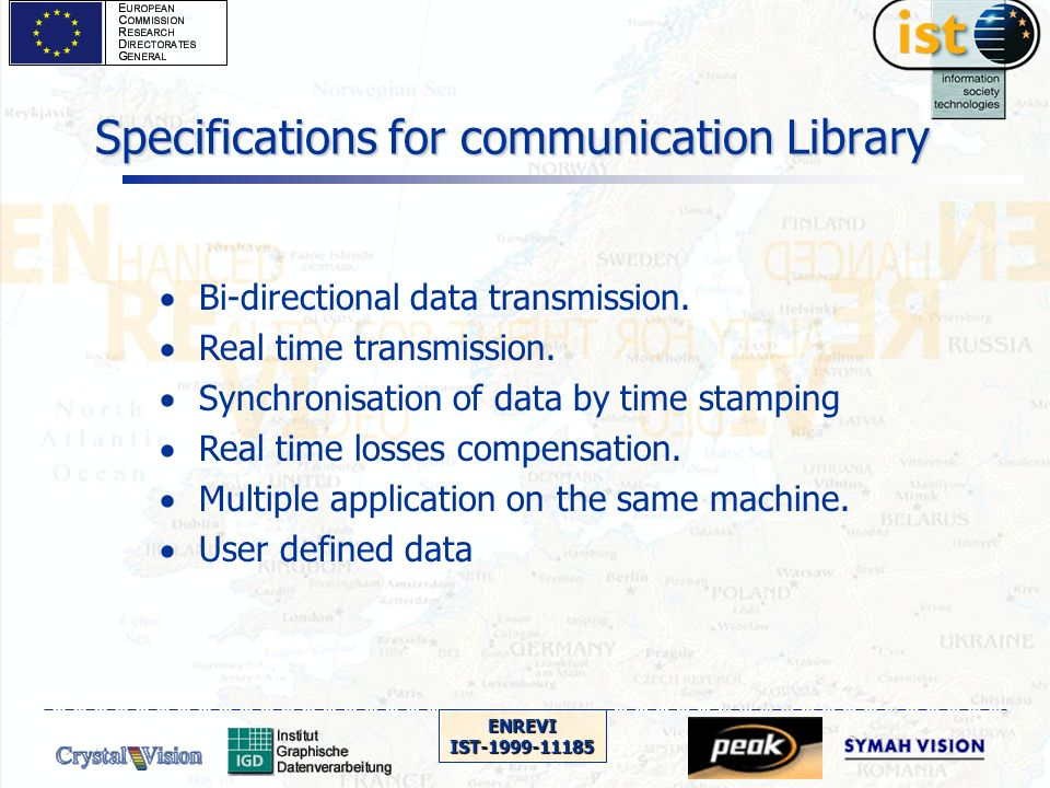 ENREVIIST-1999-11185 Specifications for communication Library Bi-directional data transmission.