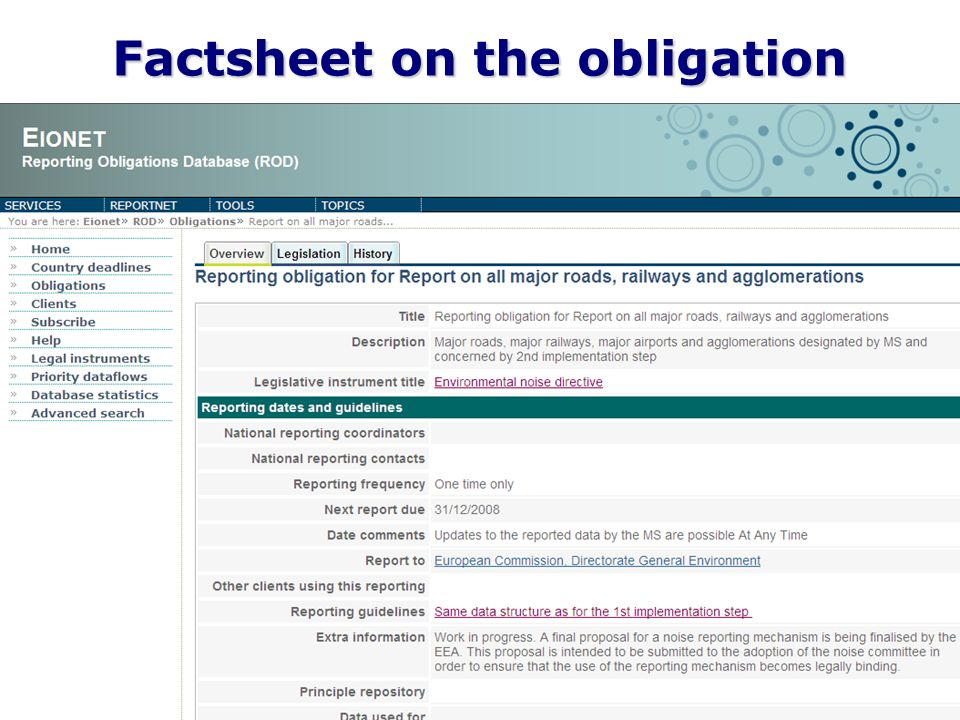 8 Factsheet on the obligation