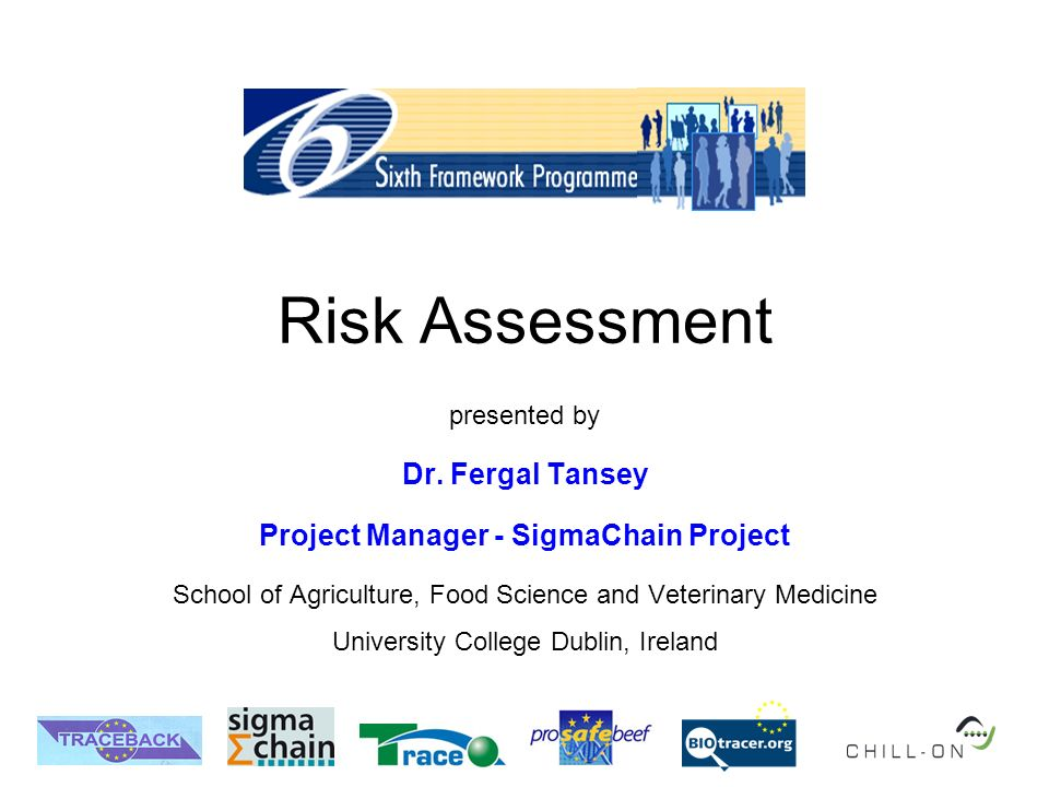 Risk Assessment presented by Dr.