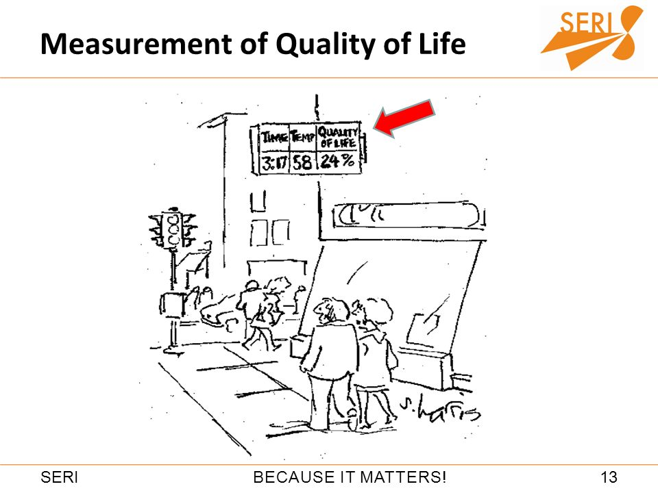13BECAUSE IT MATTERS!SERI Measurement of Quality of Life