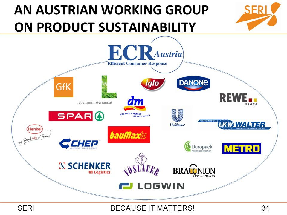 34BECAUSE IT MATTERS!SERI AN AUSTRIAN WORKING GROUP ON PRODUCT SUSTAINABILITY