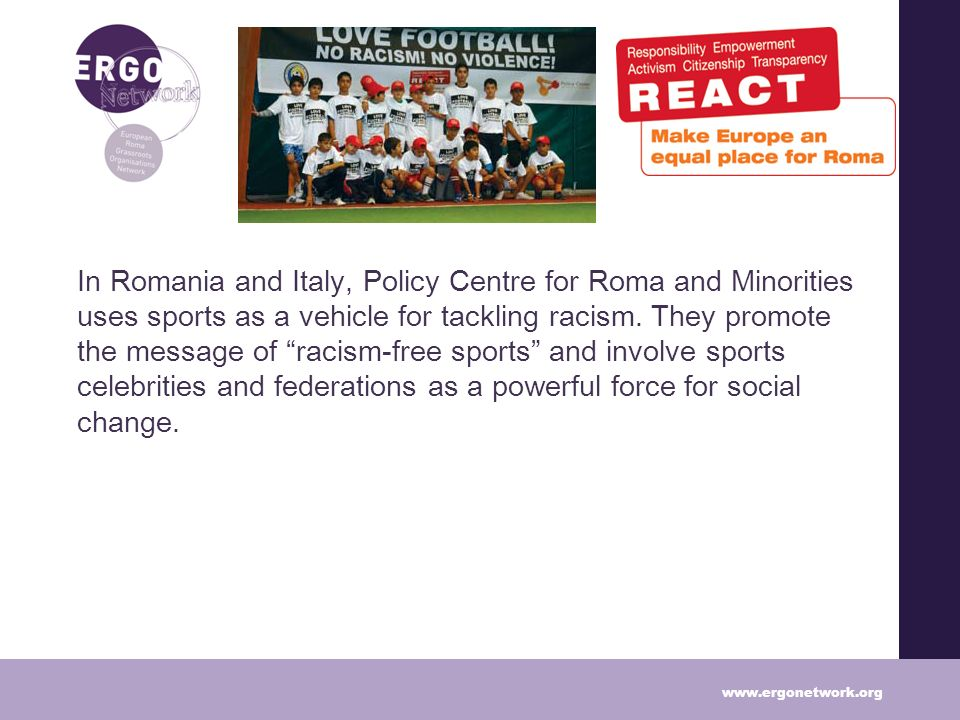 In Romania and Italy, Policy Centre for Roma and Minorities uses sports as a vehicle for tackling racism.