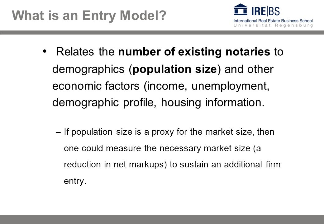 What is an Entry Model.