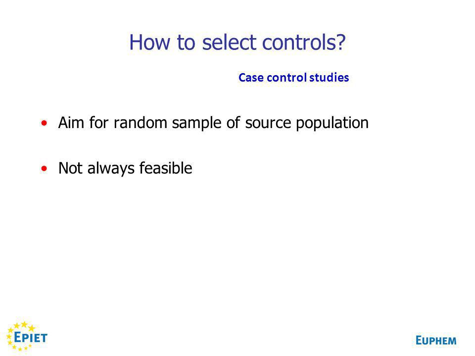 How to select controls.
