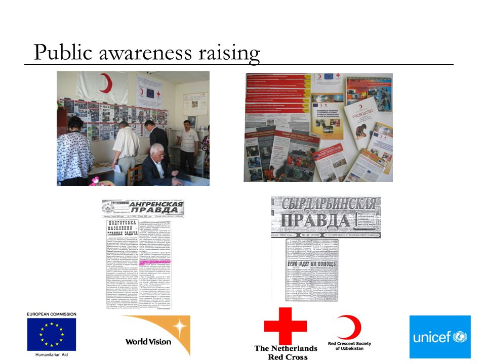 Public awareness raising