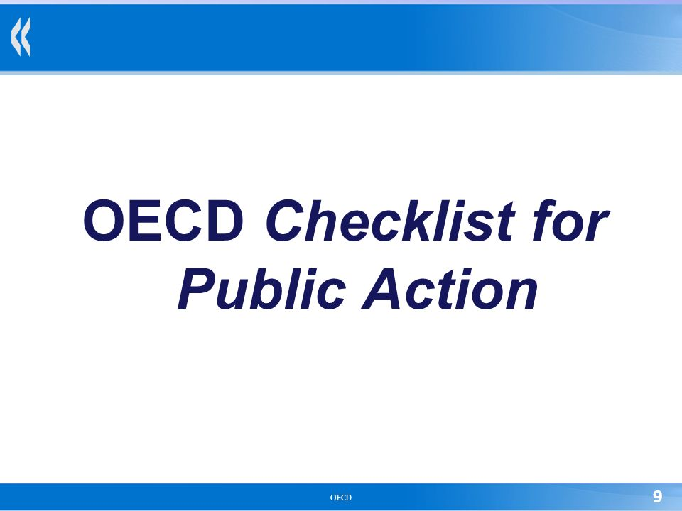 OECD 9 OECD Checklist for Public Action