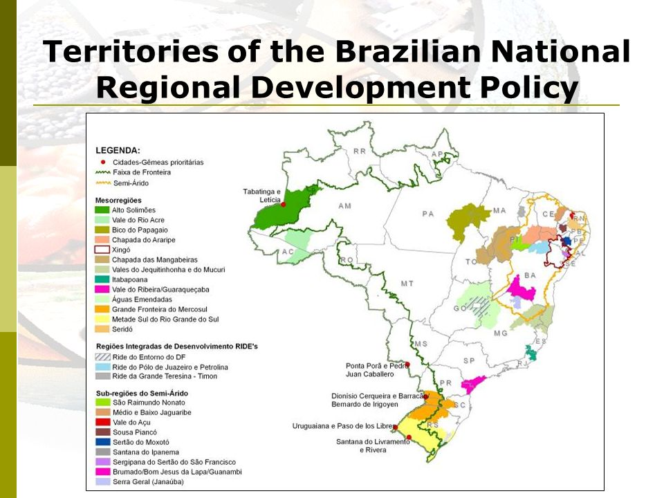 Territories of the Brazilian National Regional Development Policy