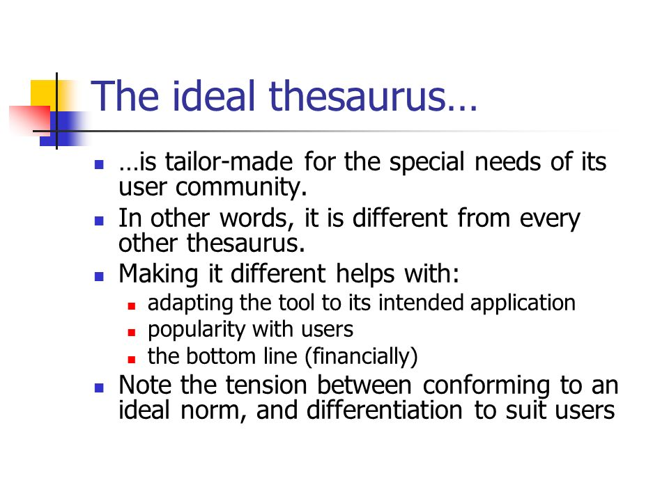 Speed dating thesaurus