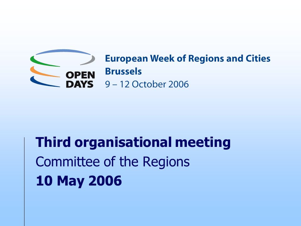 Third organisational meeting Committee of the Regions 10 May 2006