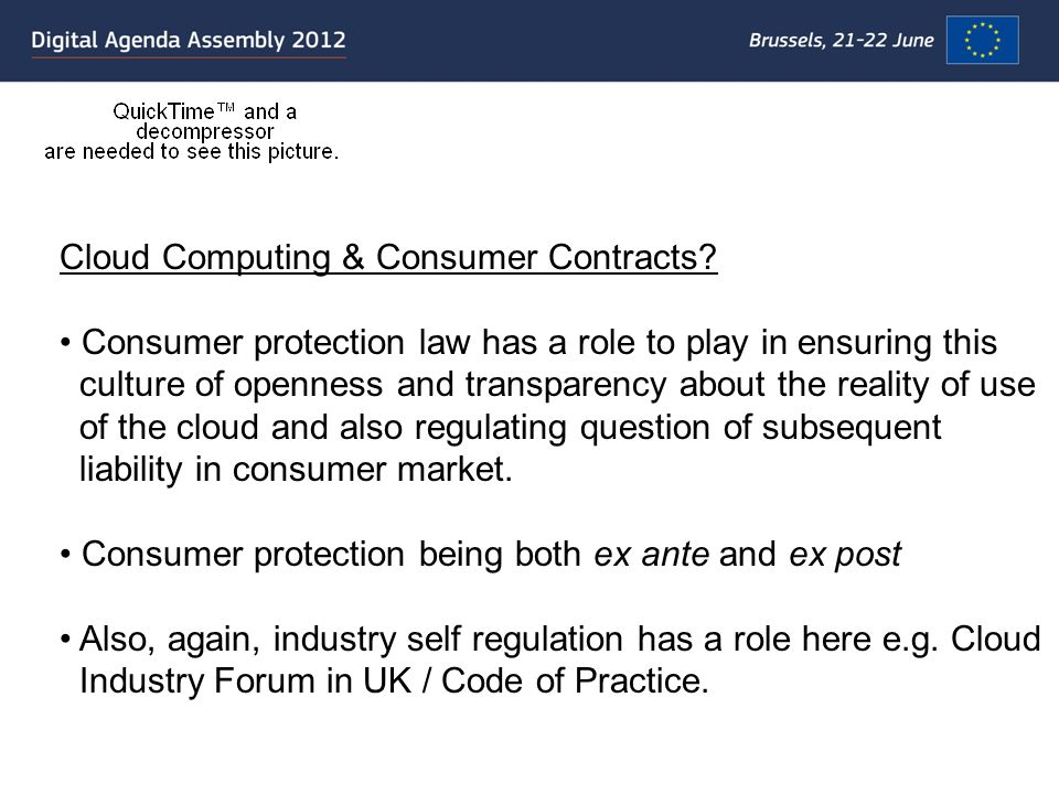 Cloud Computing & Consumer Contracts.