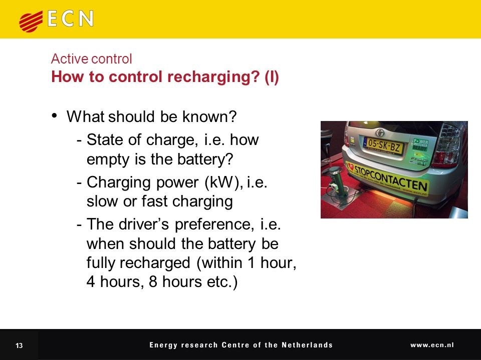 13 Active control How to control recharging. (I) What should be known.