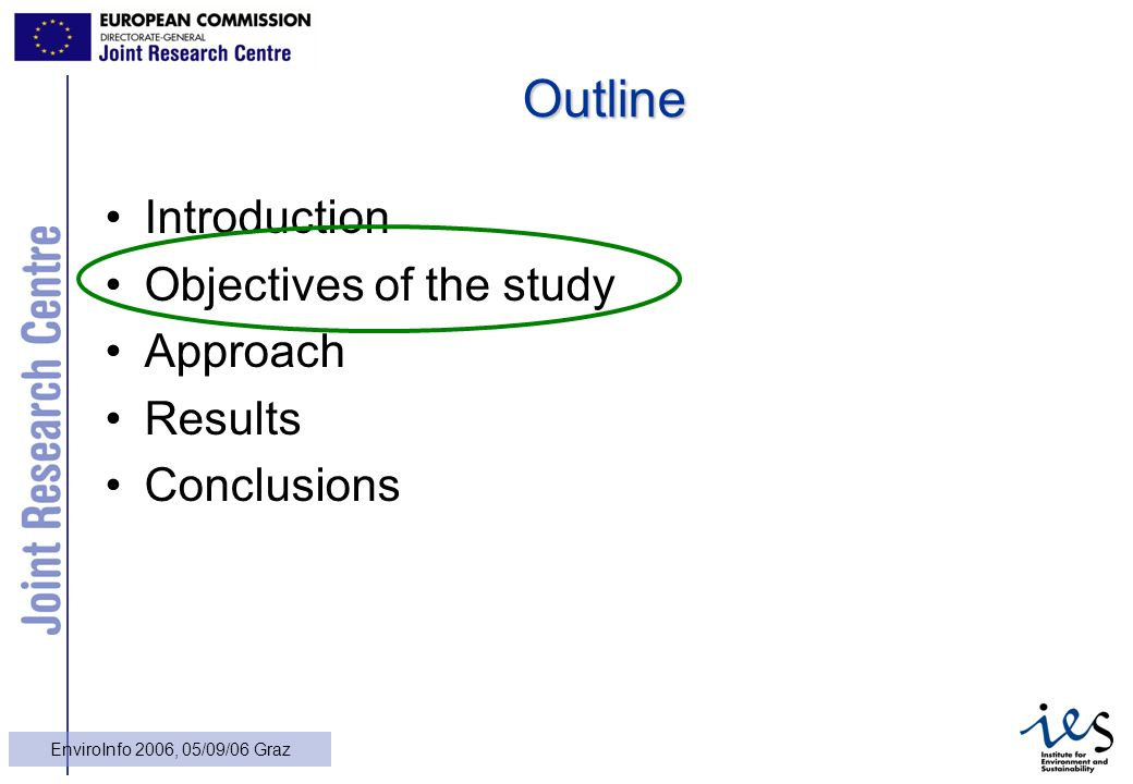 10 EnviroInfo 2006, 05/09/06 Graz Outline Introduction Objectives of the study Approach Results Conclusions