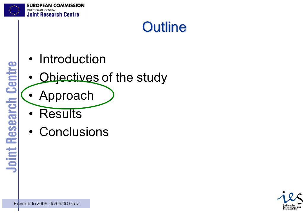 12 EnviroInfo 2006, 05/09/06 Graz Outline Introduction Objectives of the study Approach Results Conclusions