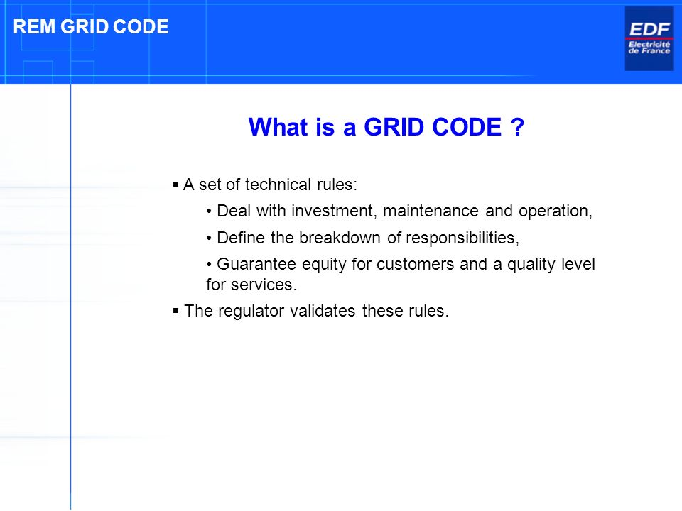 What is a GRID CODE .