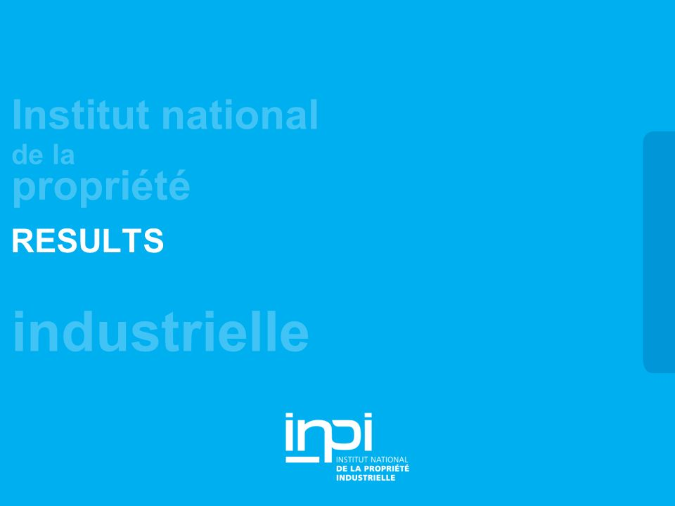 industrielle Institut national de la propriété RESULTS