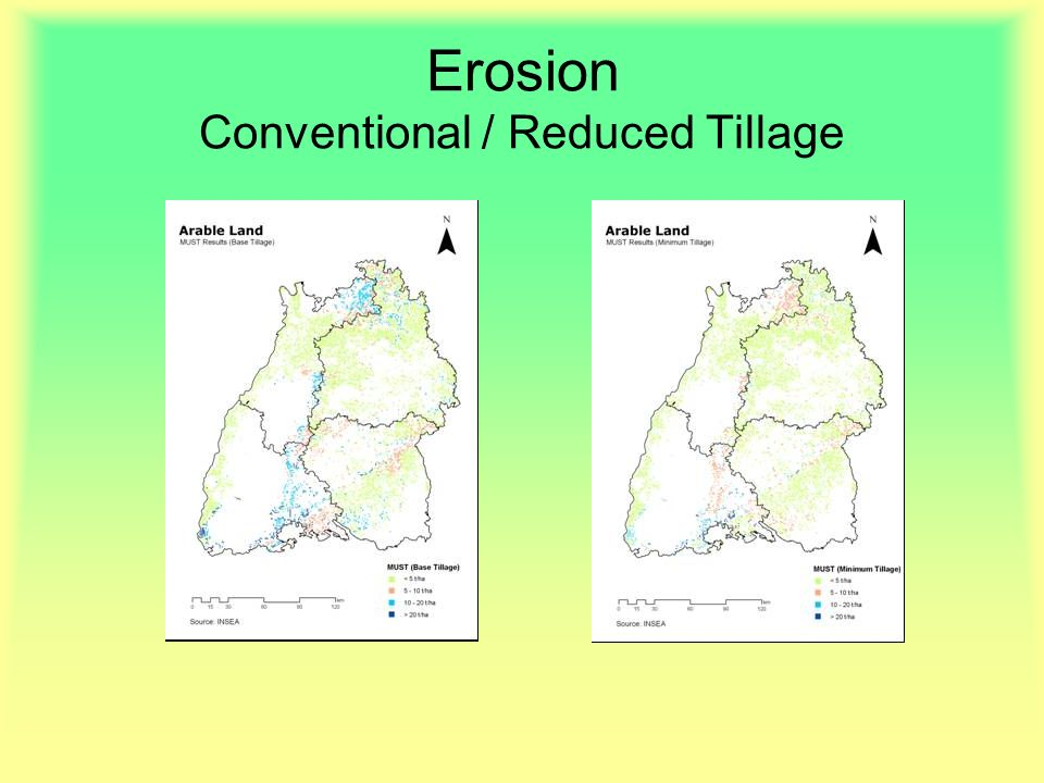 Erosion Conventional / Reduced Tillage
